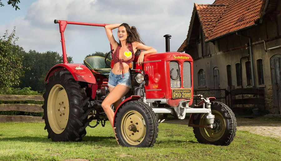 Farmer's wife nude on tractor nude girls pictures