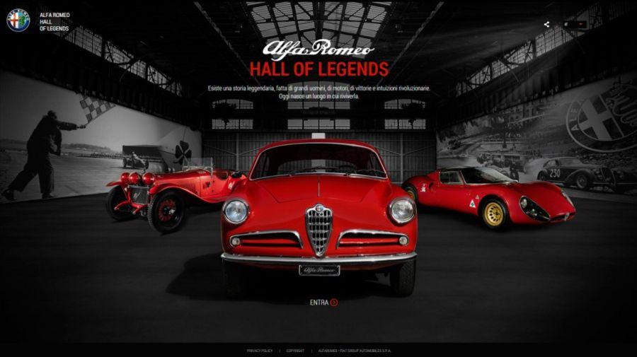Легендарные автомобили Alfa Romeo в виртуальном Hall of Legends