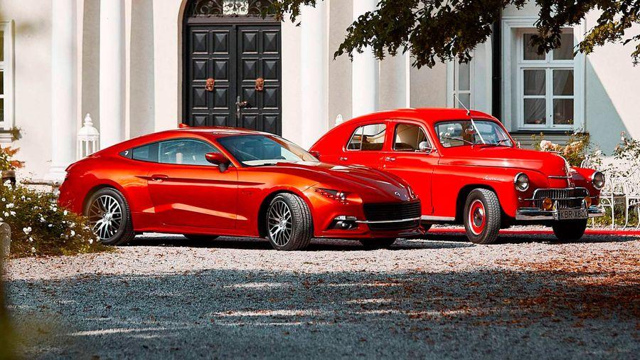 В Польше на базе Ford Mustang GT создали реплику лицензионной «Победы»