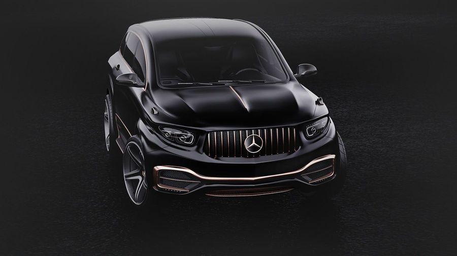 Mercedes-AMG GLS Coupe с альтернативным дизайном получился немного «растолстевшим»