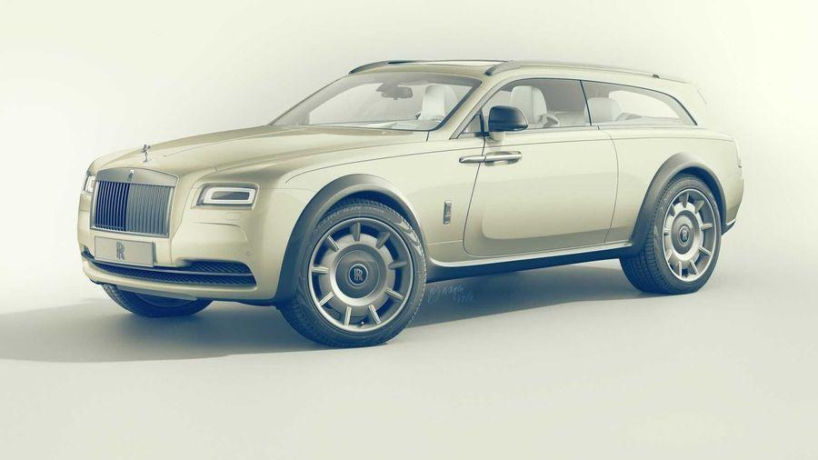 Таким может быть Rolls-Royce Wraith Shooting Brake с примесью ДНК от Cullinan