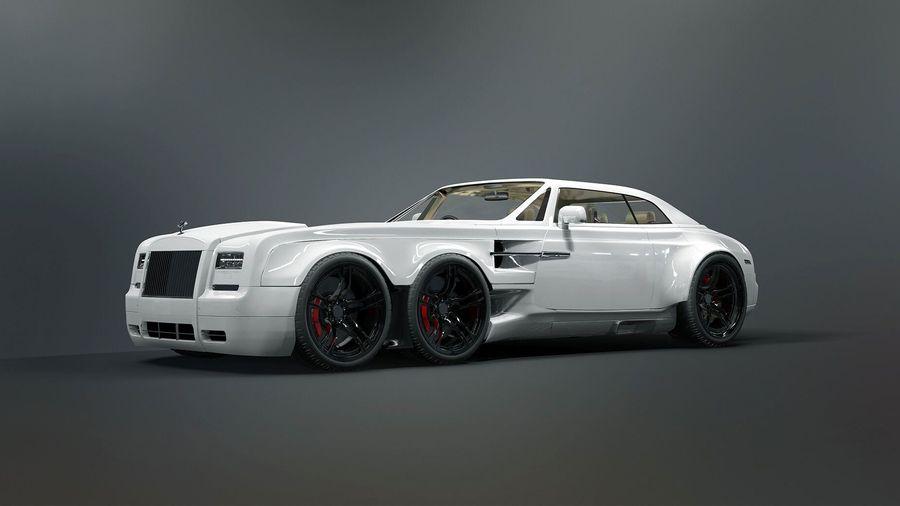 Rolls-Royce Phantom Drophead Coupe стал шестиколесным монстром