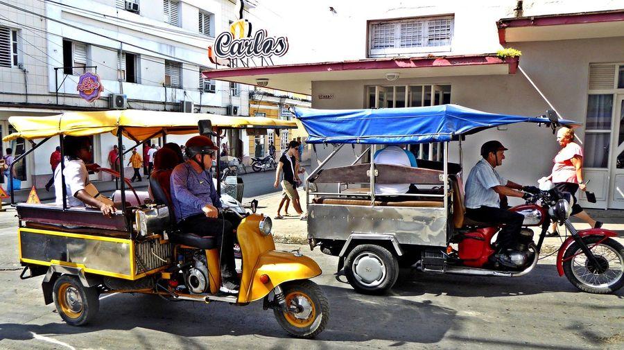 Фото: мотороллер ТГА-200 «Муравей» превратили в моторикшу на Кубе