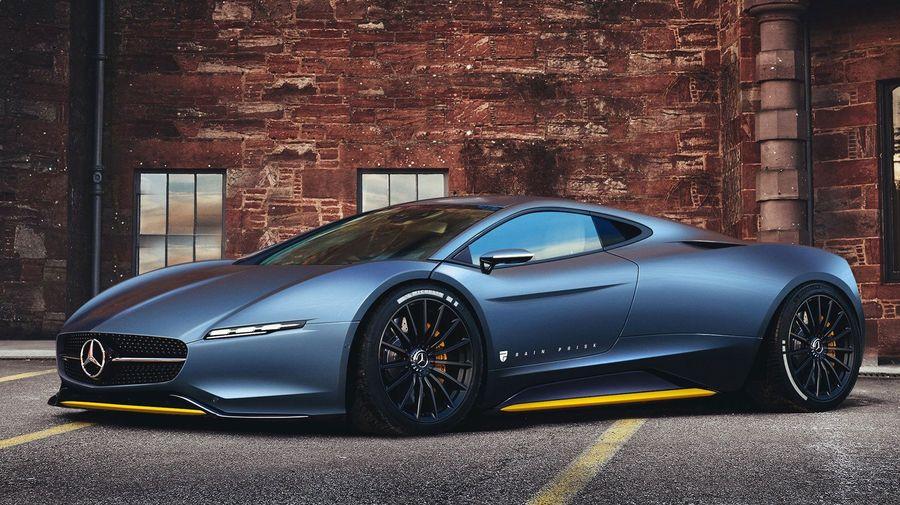 Так мог бы выглядеть среднемоторный гиперкар от Mercedes-Benz