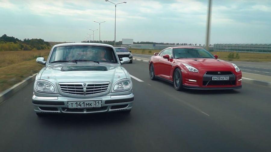 Сможет ли 900-сильная «Волга» обогнать Nissan GT-R?