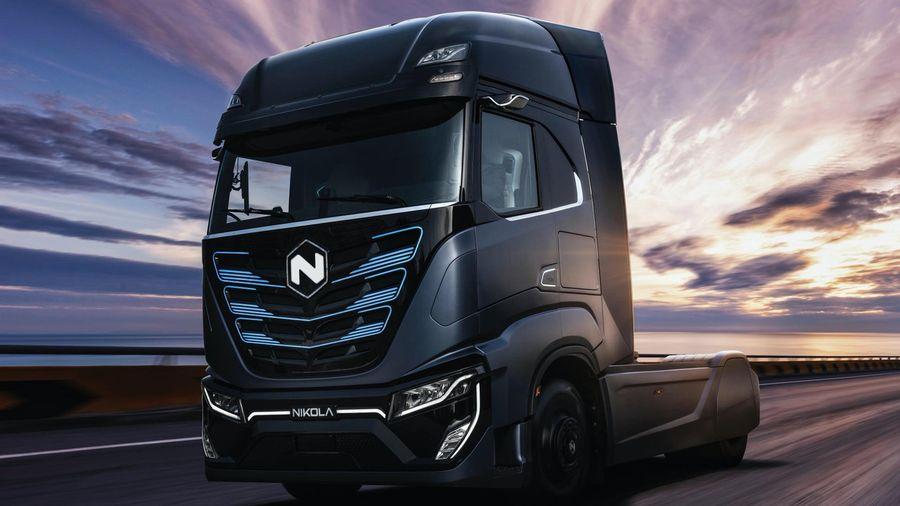 Iveco совместно с Nikola Motors показала электрический тягач Nikola Tre