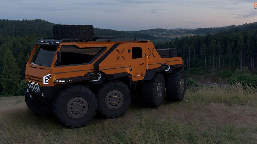 Показан дизайн нового российского вездехода-амфибии «Шаман-2»