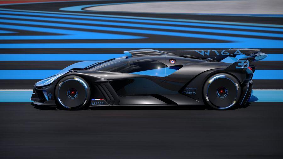 1840-сильный Bugatti Bolide способен достичь 500 км/ч уже через 20 секунд