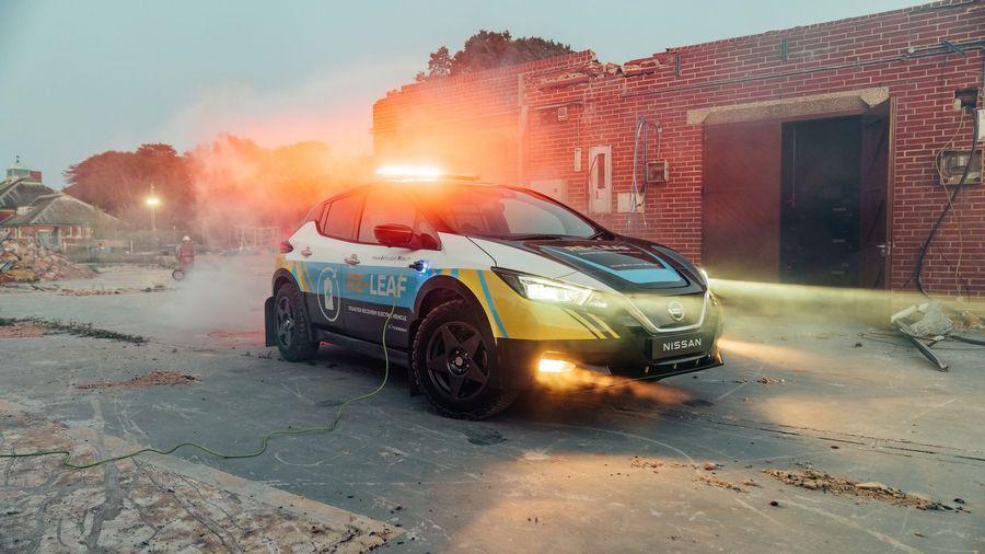 Nissan превратил электрический Leaf в мобильную электростанцию Re-Leaf