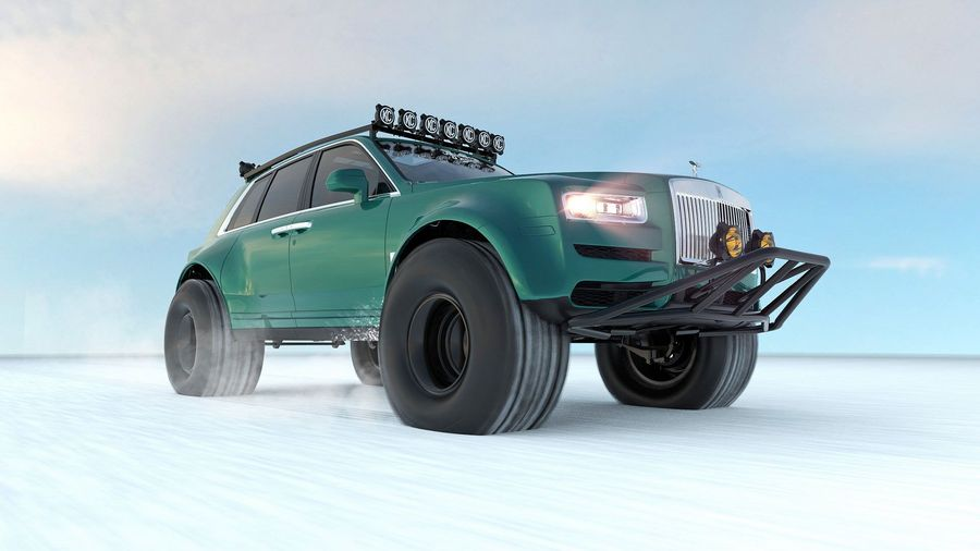 Каким же безумцем надо быть, чтобы отправить на Северный Полюс на Rolls-Royce Cullinan