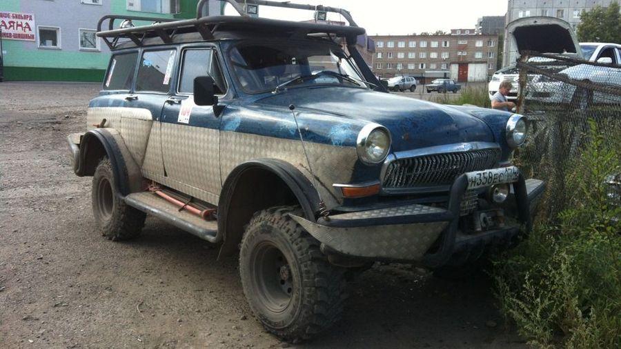 Из ГАЗ-22 «Волга» сделали крутой внедорожный универсал с массивными бамперами