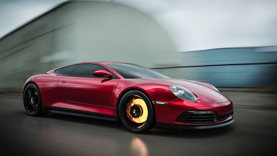 Porsche Renazzo смешал в себе ДНК Lamborghini и Porsche 911
