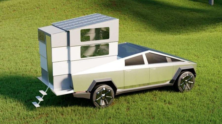 Tesla представила складной автодом, который умещается в кузове Cybertruck