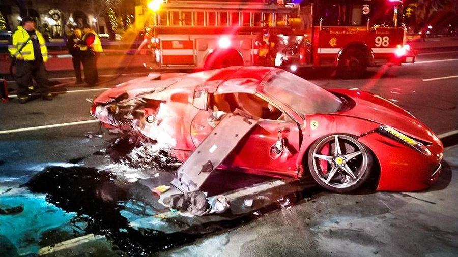 Молодой рэпер разбил арендованный Ferrari за 23 миллиона рублей