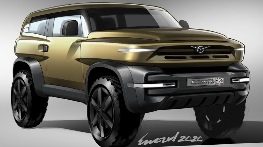 Независимые дизайнеры из России и Голландии показали свои версии нового УАЗа Хантера
