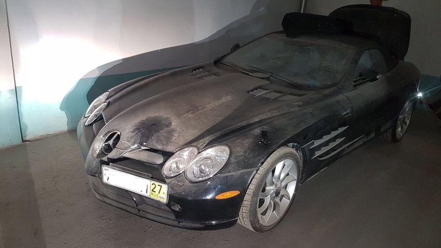 На подземном паркинге в Новосибирске нашли Mercedes-McLaren SLR Roadster с пробегом 2000 км