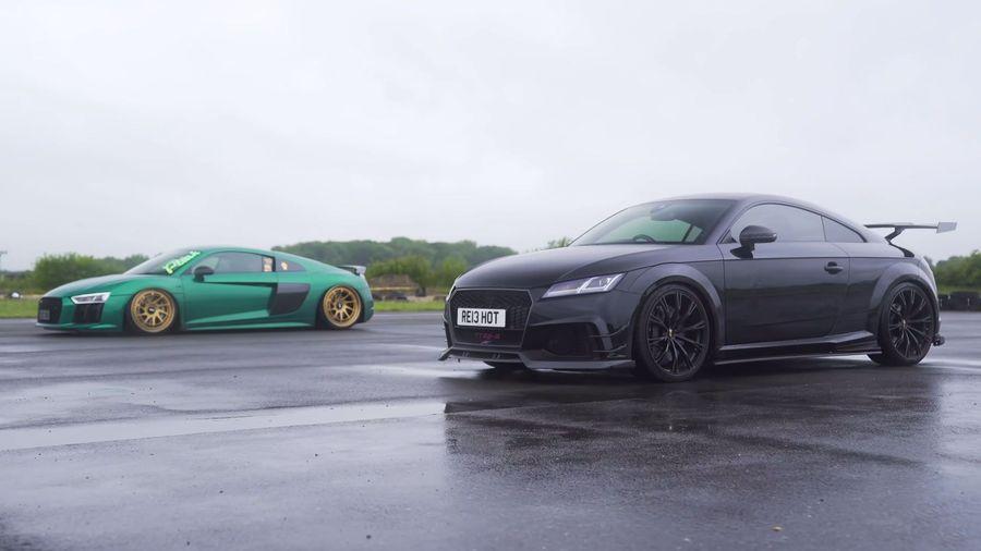 Сможет ли 610-сильный Audi TT RS-R от ABT выиграть у 610-сильного Audi R8 V10?