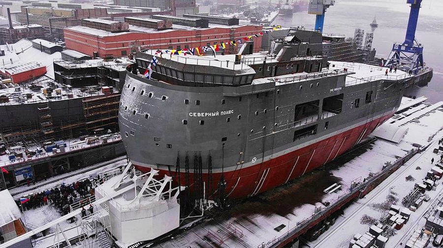 Российский арктический корабль «Северный полюс», вероятно, самое уродливое судно в мире