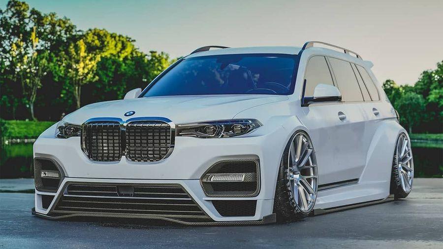 Дизайнер посмел превратить дорогой кроссовер BMW X7 в «пушку-гонку»