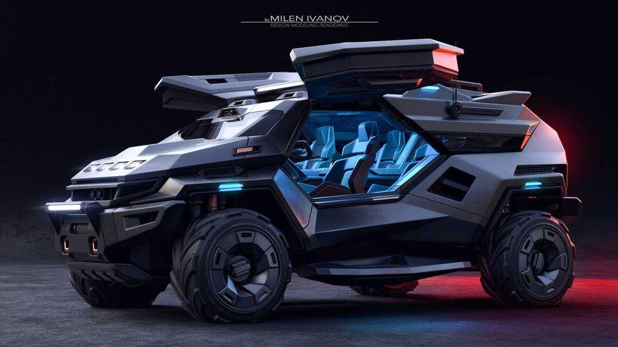 Дизайнер придумал бронеавтомобиль, который идеально впишется в игру Halo