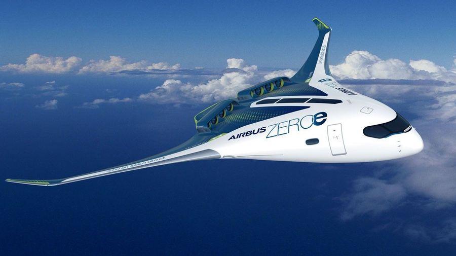 Airbus показал три самолета, работающих на водороде, в том числе и летающее крыло