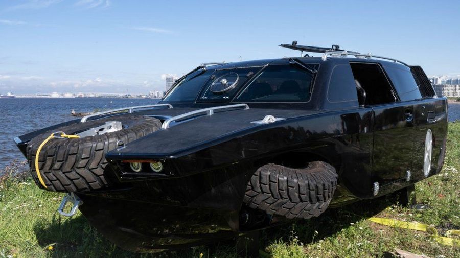 Российские инженеры разработали амфибию «Дрозд» с поджимающимися колесами