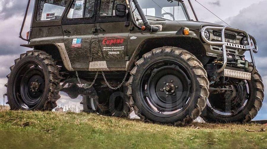 Вездеход «Сирена» — это УАЗ на колесах от трактора