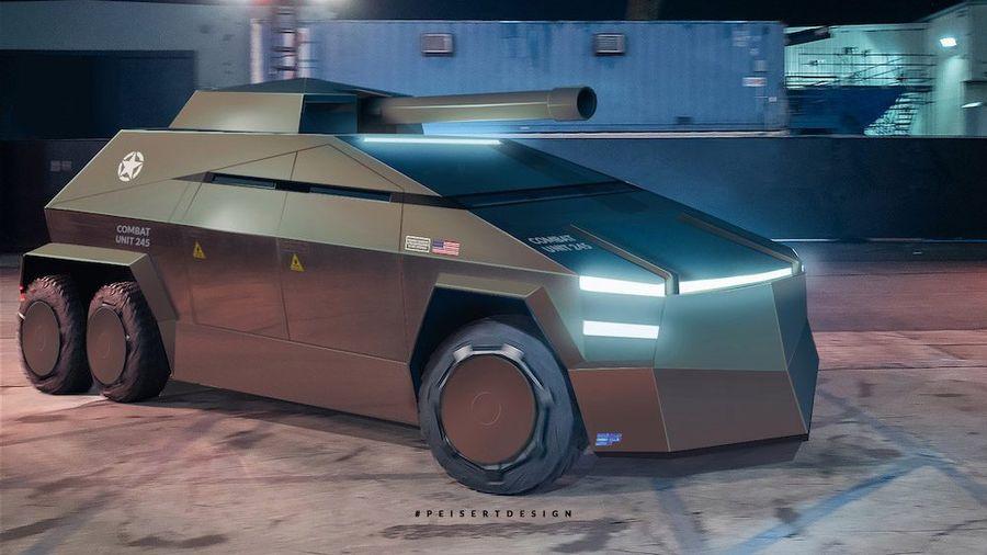Tesla Cybertruck превратился в военный броневик и шестиколесный танк