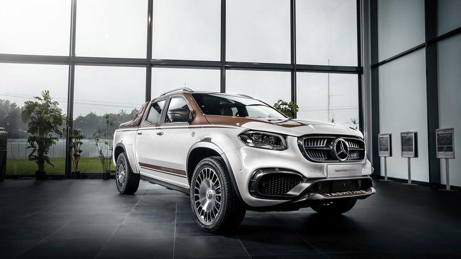 Пикап Mercedes-Benz X-класса получил «деревянный» тюнинг от Pickup Design