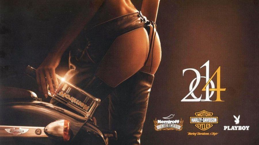 Мотокалендарь 2014 от Playboy, Nemiroff и Harley-Davidson