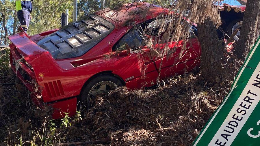 В Австралии во время тест-драйва разбили Ferrari F40 стоимость 200 млн рублей