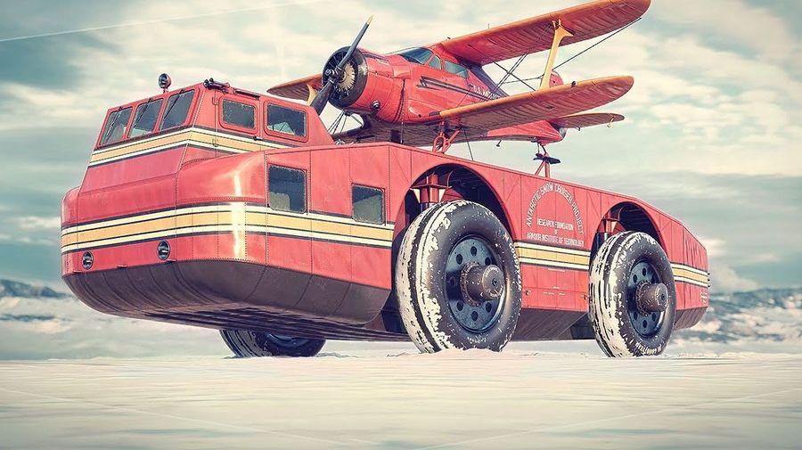 Antarctic Snow Cruiser был гигантским автодомом для 5 человек, который отправили для покорения Антарктиды