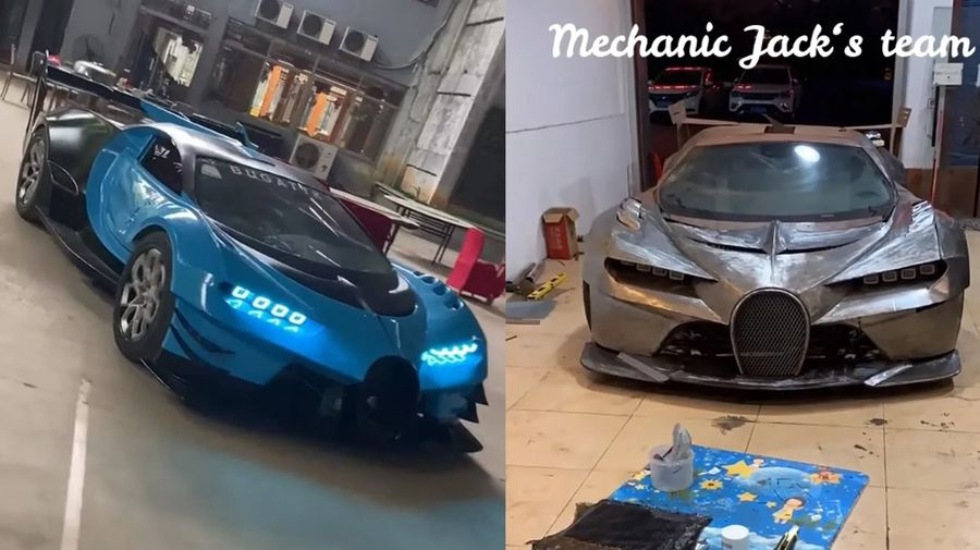 Механик из Азии вручную собрал реплику концепта Bugatti Vision Gran Turismo