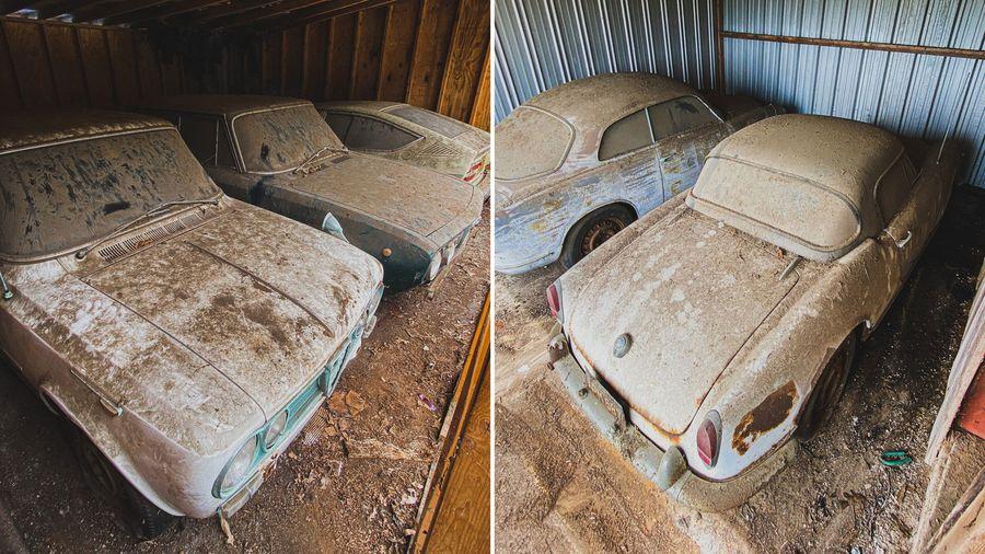 Посмотрите на коллекцию из 5 Alfa Romeo, простоявших в сарае 40 лет