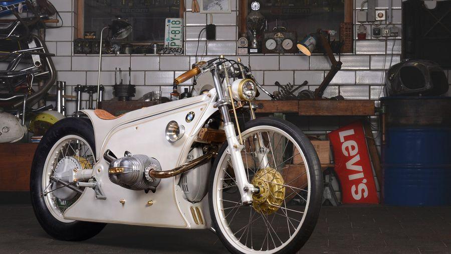 Мотоцикл White Phantom от Kinston Custom возрожденный зверь эпохи арт-деко