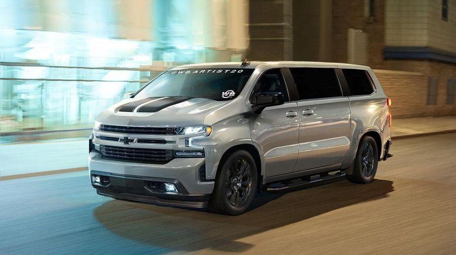 Таким может быть современная версия Chevrolet Astro с передней частью от пикапа Silverado