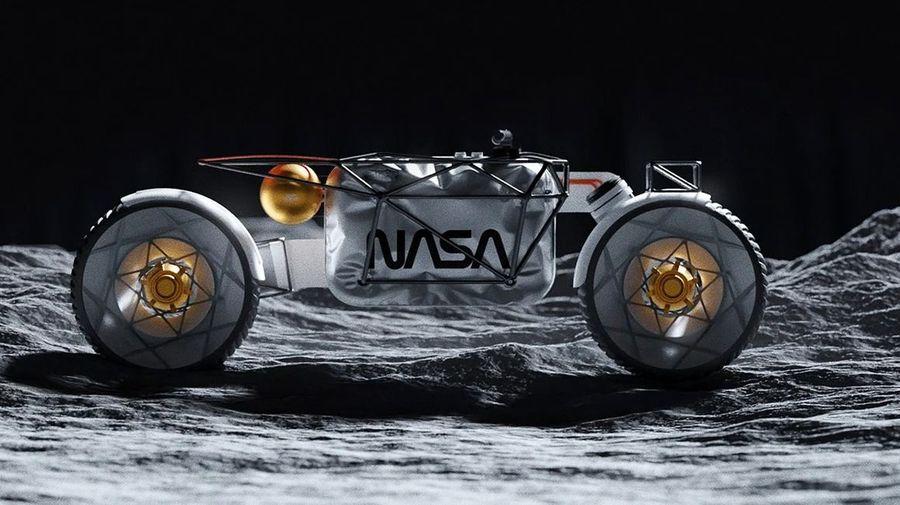 Это первый в мире мотоцикл, созданный специально для лунной поверхности