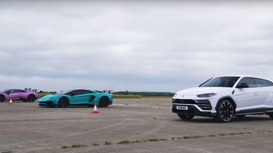 Lamborghini Urus против Aventador против Huracan. Кто победит?