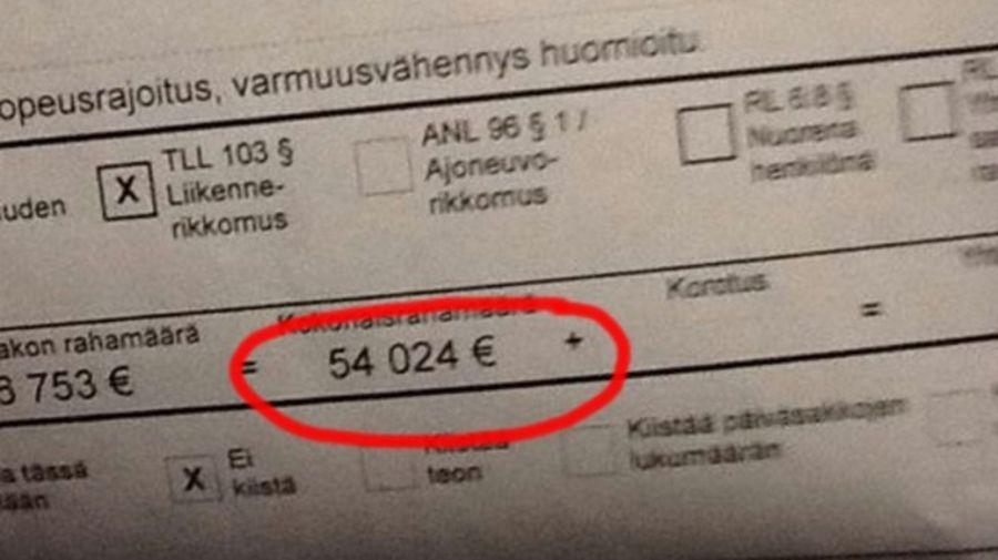 Depasirea limitei de viteza сu 23 km/h se poate incheia cu o amenda de 54 de mii de euro in Europa
