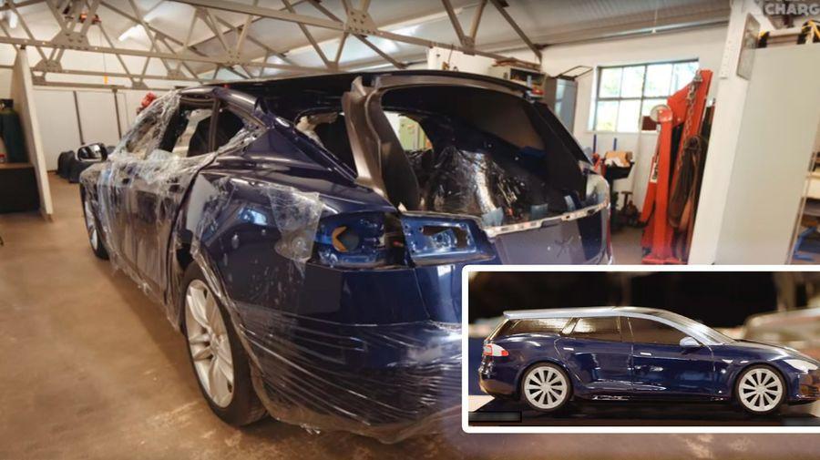 Компания Qwest изготовит Model Tesla S в кузове shooting brake для удобства собаки владельца