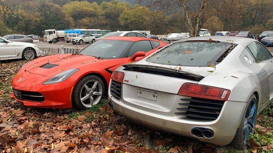 В Китае есть кладбище элитных автомобилей, принадлежавших мошеннику