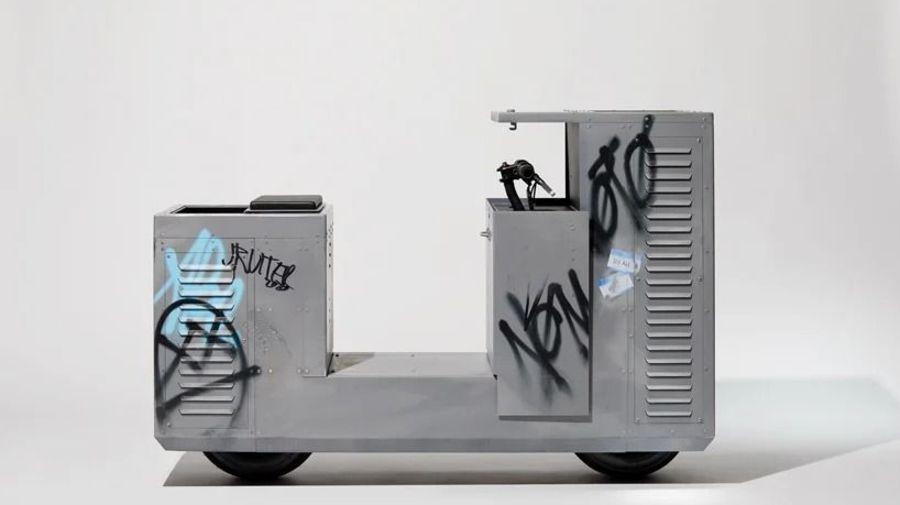 Мотоцикл или бак для мусора? Необычный проект Nomoto поможет слиться с городской средой