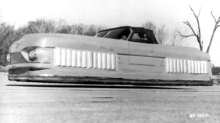 Curtiss-Wright Model 2500 Air Car на воздушной подушке, который пытались выдать за обычный автомобиль
