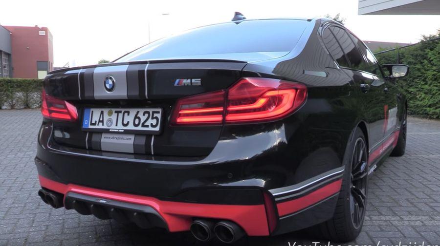 Так звучит новый BMW M5 F90 с кастомной выхлопной системой Akrapovič