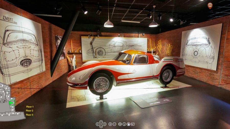 Прототип газотурбинного автомобиля Fiat Turbina 1954 в коллекции Туринского автомузея.