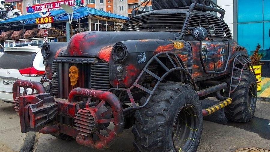 Лимузин ГАЗ-12 ЗИМ скрестили с ГАЗ-66, чтобы создать постапокалиптического монстра