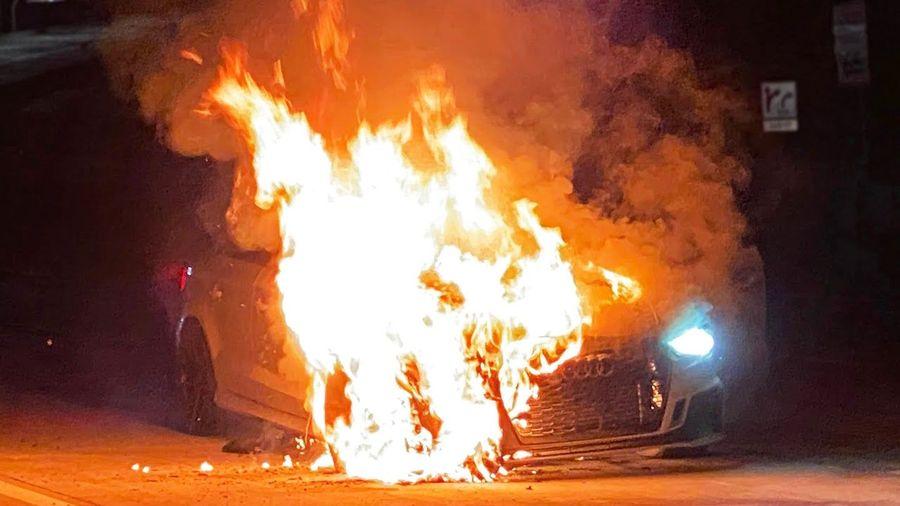 1100-сильный Audi RS3 загорелся на скорости 240 км/ч с отказавшими тормозами