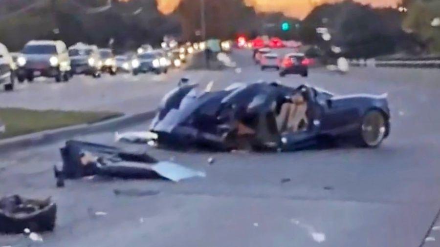 В США подросток вдребезги разбил уникальный родстер Pagani Huayra за 260 млн рублей