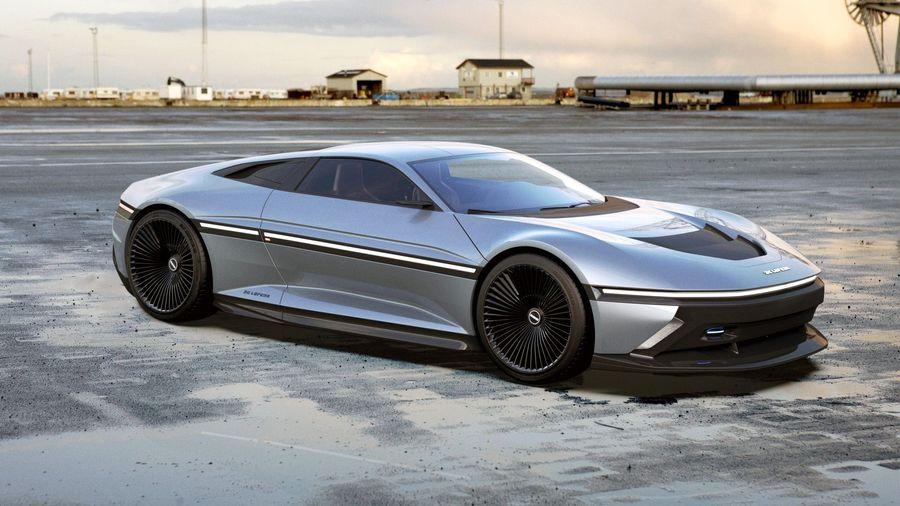 Дизайнер компании Rimac превратил DeLorean DMC-12 в стильный электромобиль