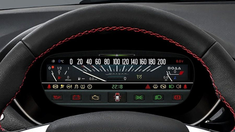 Для Lada Vesta и XRAY сделали цифровую панель приборов в стиле «Копейки»
